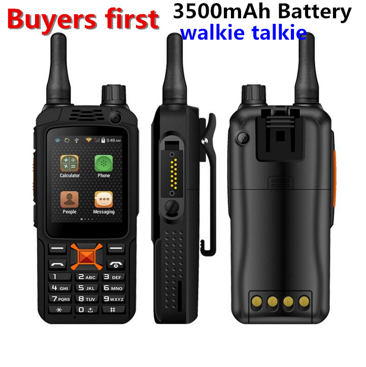 F22 IP68 3G Walkie Talkie À Prova D' Água android 4.4 telefone Celular GPS Dual SIM 5MP Zello Fala RAM 512 MB ROM 4 GB do Smartphone Robusto