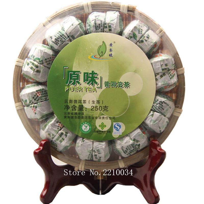 2013 Yr Yunnan Premium Original Aroma Raw Pu-erh 250g Bowl Tea,Chinese Green Sweet Food Mini Puerh Tuo Cha Shen Puer Te Bamboo pu er raw green tea 2006 six famous tea mountain yiwuyeshengchabeeng cake bing unfermented qing sheng cha 357g