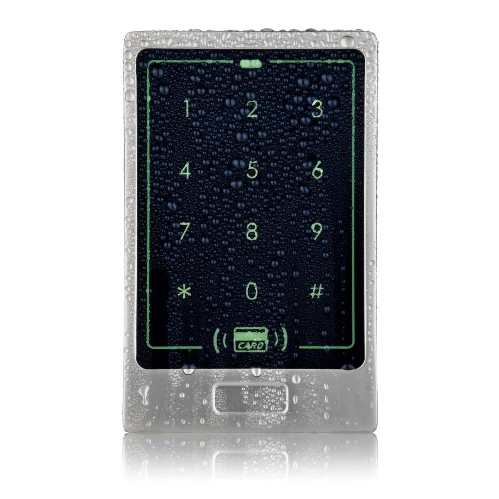 DIYSECUR Waterproof Touch Button 125KHz Rfid Card Reader Door Access Controller System Password Keypad C20 diysecur metal case touch button 125khz rfid card reader door access controller system password keypad c20
