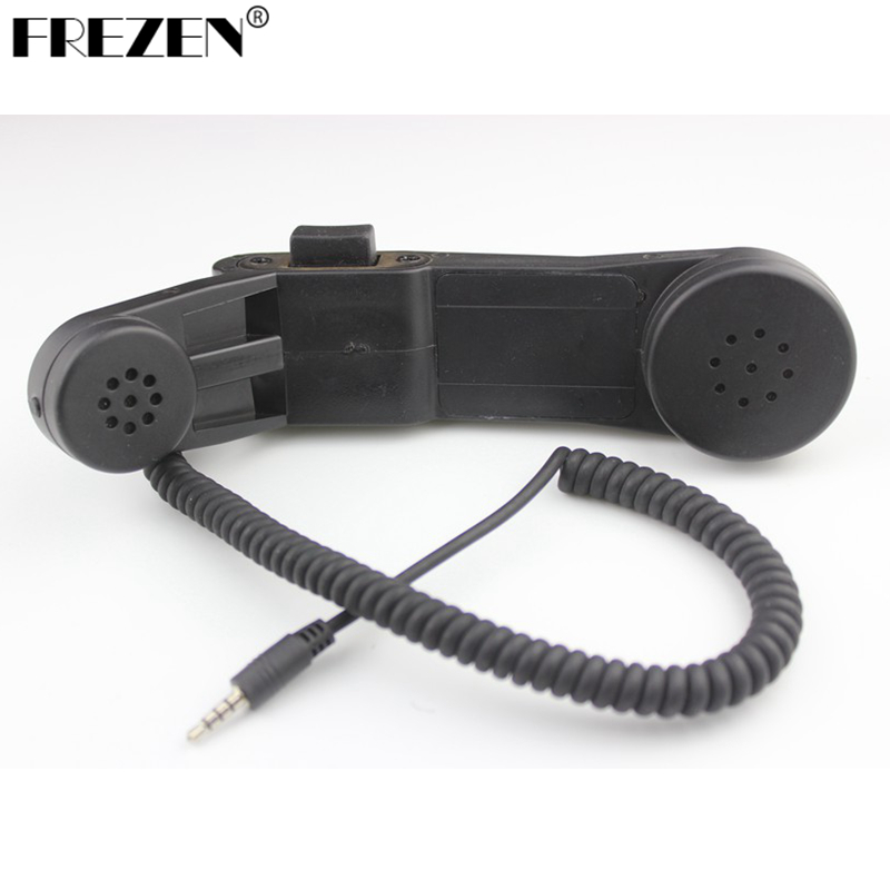 Handheld Phone Hand Microphone Element H250-PTT Communication Station Handle Mic 3.5mm Jack For Mobile Phone