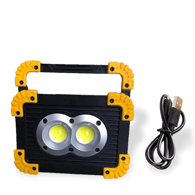 20W Rechargeable LED Lamp Handheld Floodlight Light Powered By Battery For Construction Camping Searchlight As Power Bank