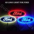 4D Led White/Blue/Red Rear Badge Emblem LED Sticker Light for FORD Focus Mondeo Led car logo light