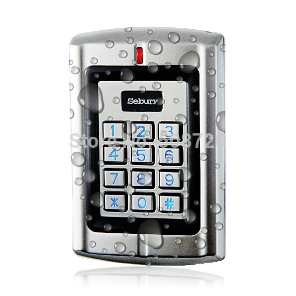 Sebury W4 Outdoor Metal Waterproof Standalone Access Keypad door lock ID RFID reader controller lpsecurity waterproof outdoor metal rfid keypad door lock standalone access control reader