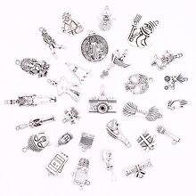 All Tibetan Silver Snowman Skullman Zombia Pendants Charms for Jewelry Making DIY Bracelets Novelty Crafts