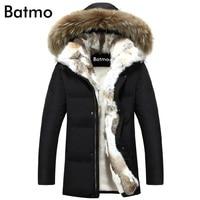 2019 winter duck down jacket men coat parkas warm Liner Female Warm Clothes Rabbit fur collar High Quality,PLUS SIZE S to 5XL