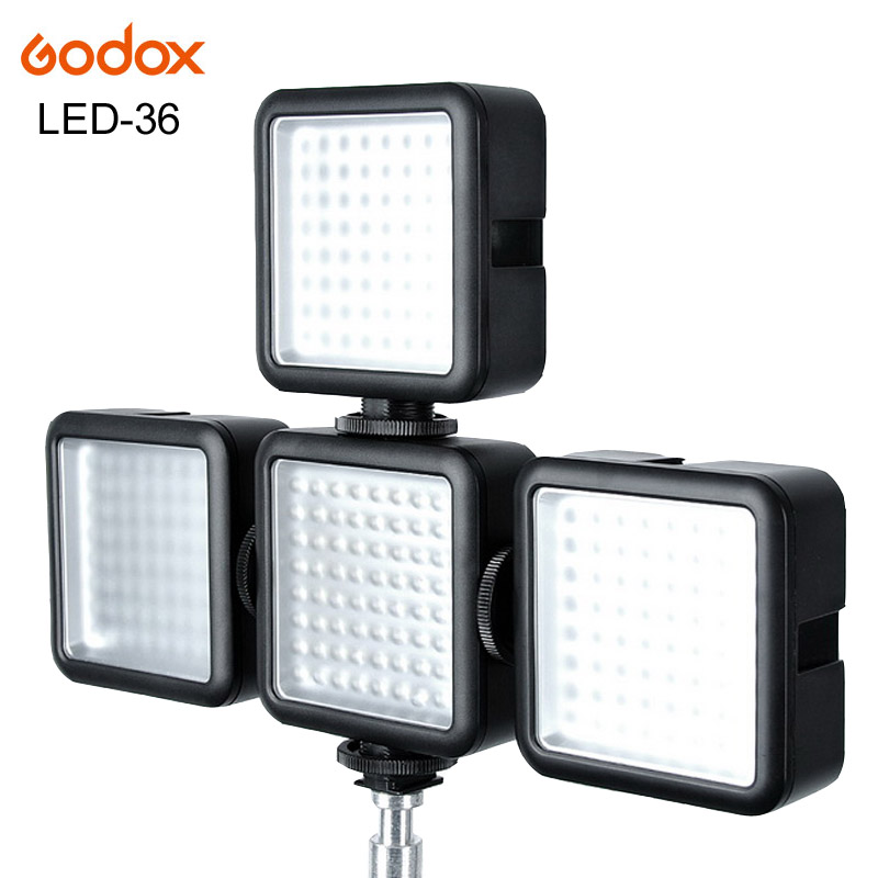 4pcs Godox LED-36 Photographic Lighting LED Light Lamp for Camera DV Camcorder Canon Nikon Sony Pentax Olympus Panasonic DSLR