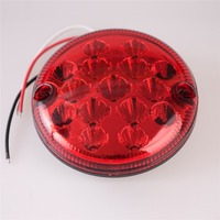 PAIR OF 12V24V VOLT LED REAR 140mm ROUND HAMBURGER TAIL LAMP LIGHT LORRY TRUCK TRAILER