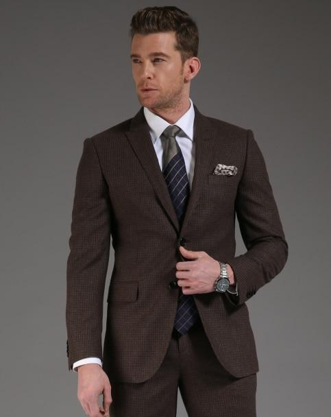 Slim Fit Brown Suit   My Dress Tip