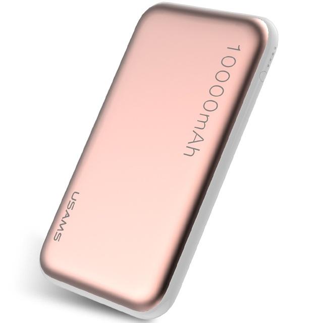 USAMS 10000 mAh Banco de Potencia de Salida Dual con Linterna para Teléfonos Móviles y Tabletas, etc
