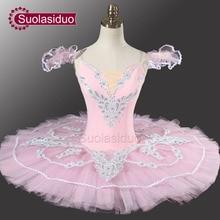 Adult Pink Classical Ballet Tutu YAGP Professional Pancake With Flower Fairy Costume Dancewear SD0005