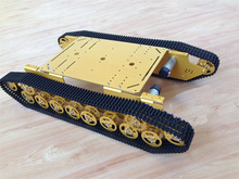 DIY Robot Metal Tank Chassis 4wd Robot Crawler Tracked Vehicle Caterpillar Track Chain Car  Mobile Platform Tractor RC Toy rc tank chassis crawler intelligent barrowload remote control kit tractor obstacle caterpillar wall e infrared