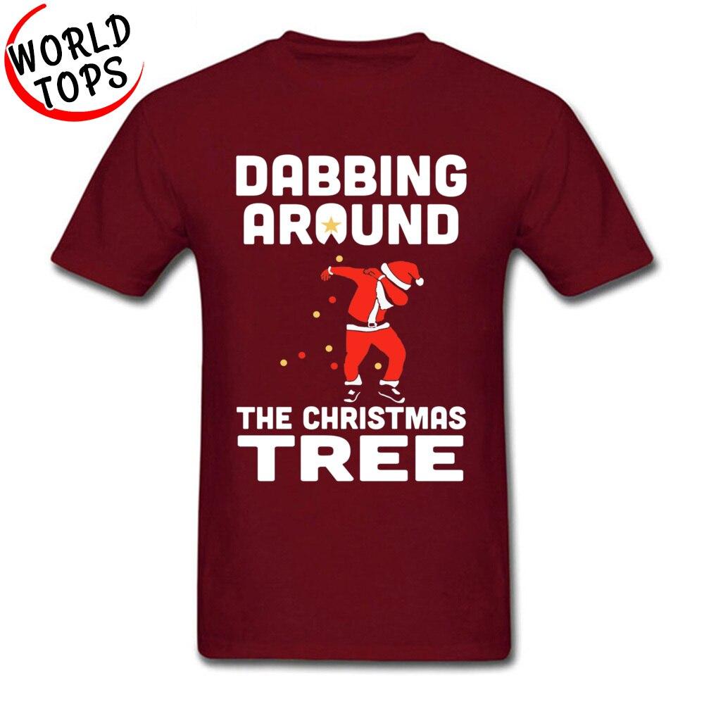 Techno DJ Dabbing Santa Claus Happy Dance T Shirt Dabbing The Christmas Tree Poland Rock Music Tshirts Guitar Hero New