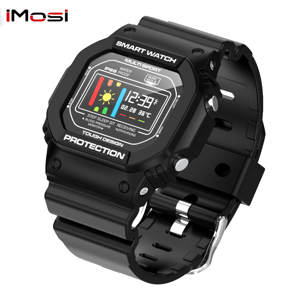 Imosi X12 Smart Watch for Men Women With Blood Pressure Heart Rate Monitor IP68 Waterproof Smartwatch compatible Android IOS Smart Watches     - title=