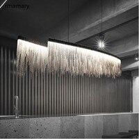 Cadeia de arte pós-moderna LED lustre sala de estar sala de jantar bar bar lustre lustre projeto do hotel villa Americano CONDUZIU a lâmpada de luz