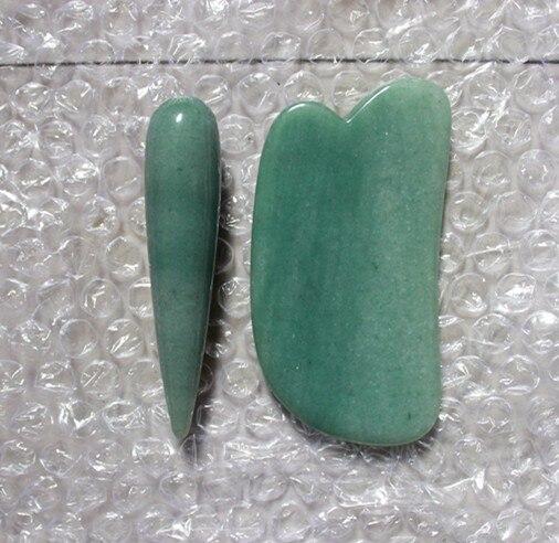hot sale green jade relax stone ( gua sha stone and massage stick ) 30pcs lot cxa1145m cxa1145 cxa good quality hot sell free shipping buy it direct