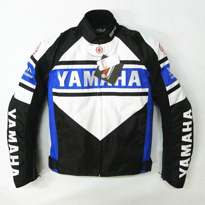 Moto Bleu Blanc De Protection Veste Pour YAMAHA D'hiver Moto Vêtements Moto GP Racing Manteau
