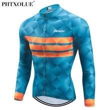 Phtxolue manga longa ciclismo jerseys respirável mountain bike roupas outono verão roupas de bicicleta maillot ropa ciclismo