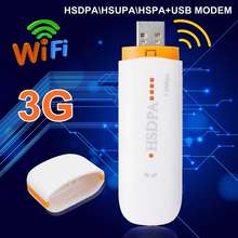 Мини usb-модем HSDPA \ HSUPA \ HSPA+ USB Dongle STICK sim-модем 7,2 Мбит/с 3G/4G беспроводной сетевой адаптер с TF sim-картой
