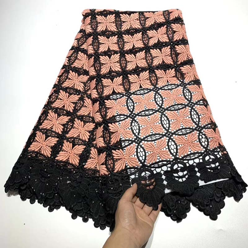 African Lace Fabric 2019 High Quality Nigerian Lace Fabrics With Stones Embroidery French Tulle Lace Fabric