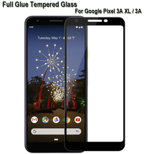 3D Full Glue Tempered Glass for Google Pixel 3A XL Screen Protector Coverage Protective Film Anti-Explosion