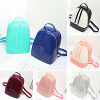 Fashion New Summer Spring Waterproof PVC Material Girls Candy Mixed Color Jelly Crossbody Package Cute Bag