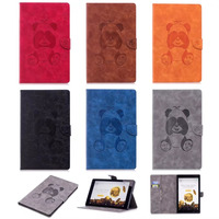 Ultra Slim PU Leather EReader Case For Amazon Kindle Fire HD10 2017 2015 Luxury Imprinted Panda