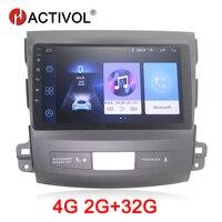 HACTIVOL 2G + 32G Android 8,1 автомобильный радиоприемник для Mitsubishi Outlander 2008 2015 автомобильный dvd плеер с gps навигатором автомобильный аксессуар 4G dvd плеер