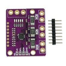 1 conjunto i2c smbus ina3221, triplo canal, shunt, fonte de alimentação atual, sensor de tensão, placa, módulo substituir ina219 pinos kit diy diy,