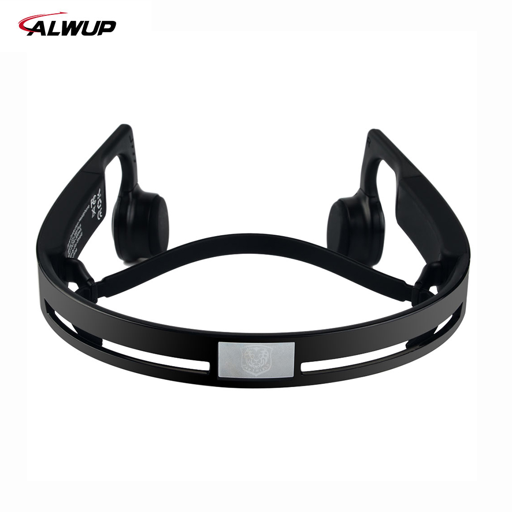 ALWUP Wireless Headphone Bluetooth earphone Bone Conduction Sports Stereo Headset Headphones with Mic Microphone Bluetooth 4.2-6