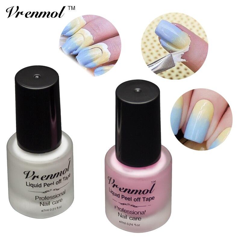 Vrenmol 1 шт. peel off жидкий Клейкие ленты частокол крем Защита кожи гель Лаки для ногтей Nail край розовый белый Жидкий клей Дизайн ногтей