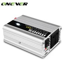 Onever 500 Вт автомобильный инвертор 12 В 220 В 50 Гц автомобильный инвертор 12 220 прикуриватель преобразователь питания инвертор пиковая мощность 1000 Вт
