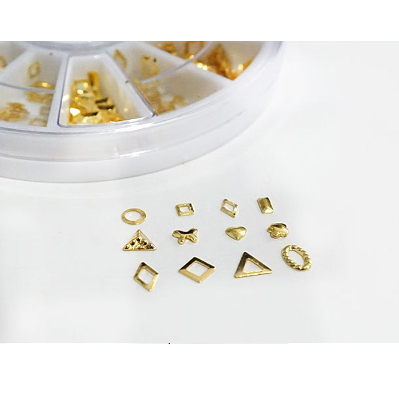 1 Box DIY Epoxy Resin Filling Material Gold Pendant Hollow Geometric Shape Filler Handmade Crafts Jewelry Making Manicure Nail
