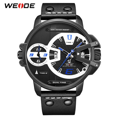 WEIDE UV1702 Hardlex Dual Time Analog Japan Movement Wrist Watches 6