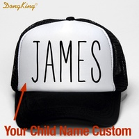 DongKing Custom Kids Trucker Hat Printed Child Baby Son Daughter Name Family Name Custom Personal Name