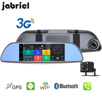 Jabriel 7 inch 3G Car DVR dual camera reversing rear view Android Bluetooth car GPS navigator rearview mirror driving recorder
