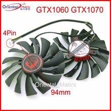 Free Shipping 2pcs/lot PLD10010S12HH DC12V 0.40A 94mm 40*40*40mm 4Pin VGA Fan For MSI GTX1070 GTX1060 Graphics Card Fan