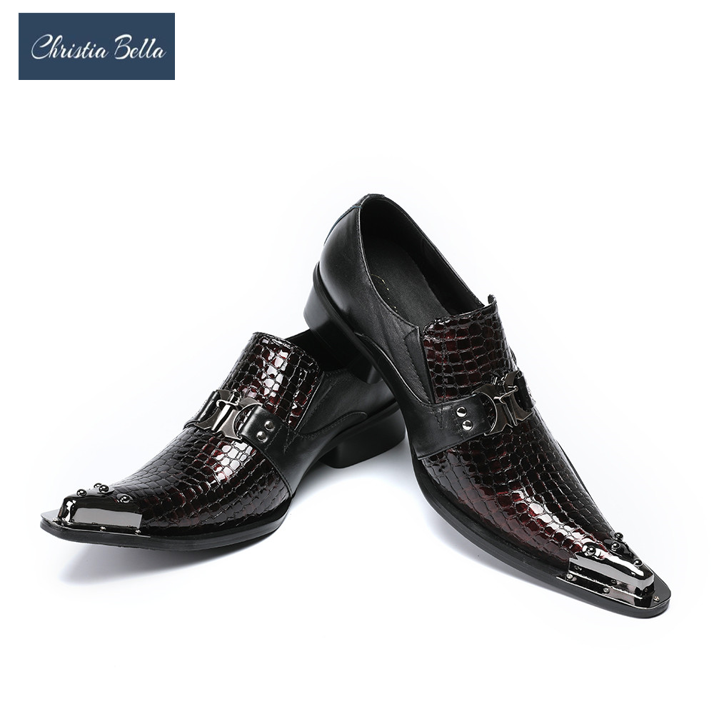 Здесь продается  Christia Bella Mens Shoes Luxury Fashion Business Style Oxfords Shoes for Men Celebrate Dress Shoes Genuine Leather Men