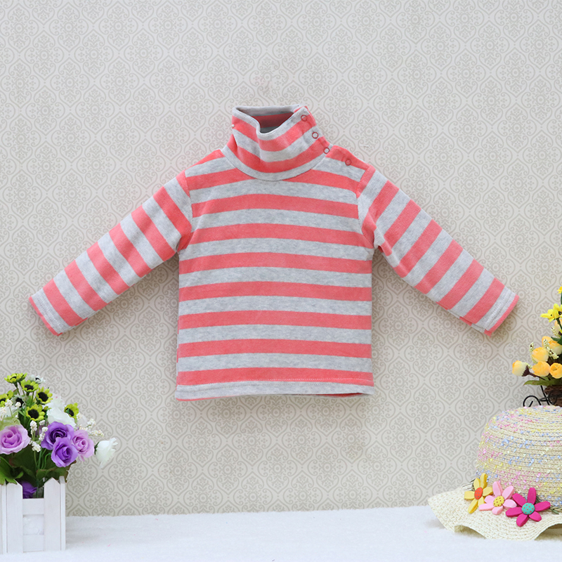 Little-Q-baby-turtle-neck-velour-blouse-5-pcslot-striped-spring-and-autumn-unisex-shirts-kids-long-sleeve-rivets-button-clothes-4