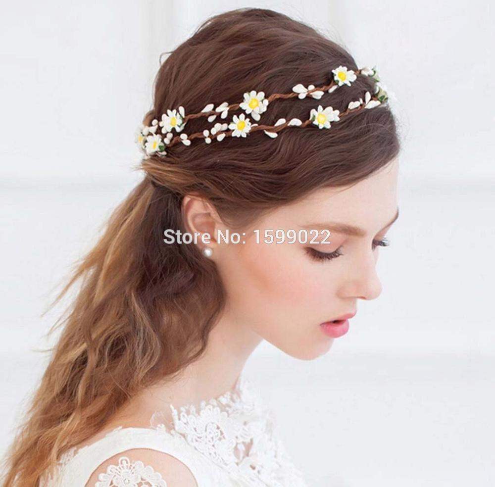 Beach Wedding Bride Flower Crown Double Layer Pip Berries Rattan