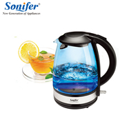 1 7L Colorful Electric Kettle Glass 2200W Household Quick Heating Electric Boiling Pot Sonifer