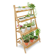 plant flower stand plant shelf standing flower shelf plantas plant rack decoration flower rack balcony outdoor decor Banboo(China)