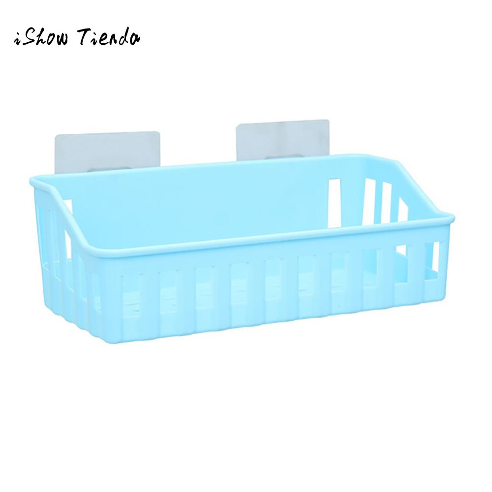 Bathroom Storage Basket Cup Holder Shelf Shower Caddy Tool Organizer ...