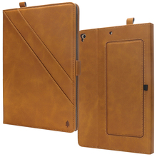 Multifunction Wallet Leather Case for Apple iPad 9.7 2017 Flip Foldable Business Stand Smart Cover for iPad Air Air2 9.7 inch for apple ipod touch 7 case vintage calf grain leather flip stand shockproof wallet cover for ipod touch 5 6 case card holder
