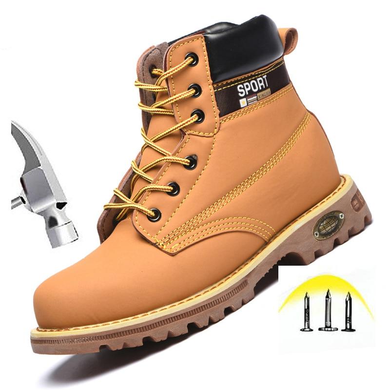 Safety Steel Toe Boots Men Waterproof