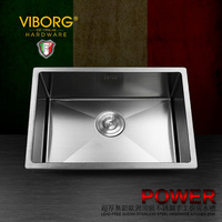 VIBORG Deluxe 304 Stainless Steel Lead Free Double Bowl Kitchen Sink Basket Strainer Drain Pipes Straining
