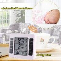 LESHP Wireless Digital Freezer Fridge Thermometer Indoor Outdoor Alarm Magnet Sensor Temperature Meter C F Value