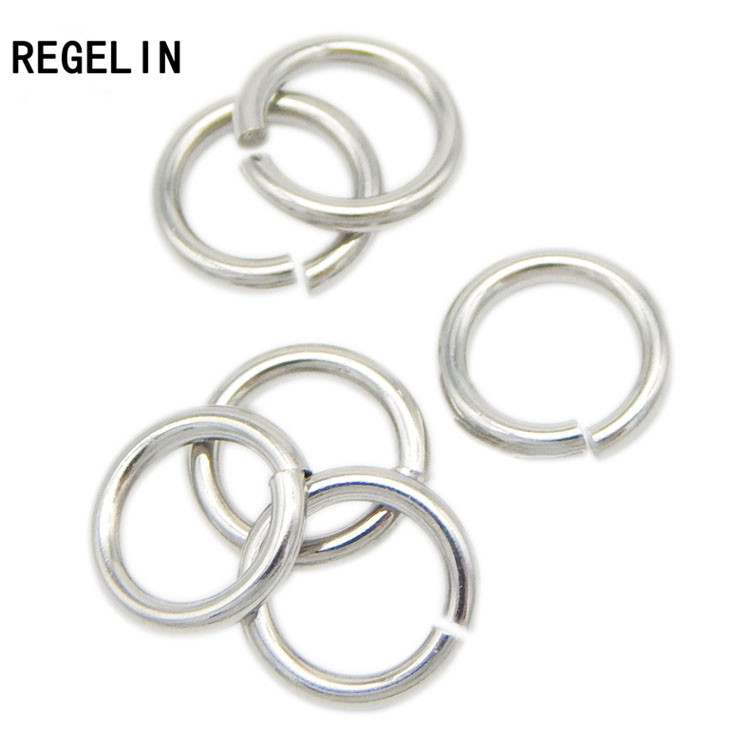 REGELIN High Qualtity 100pcs/lot Stainless Steel Open Jump Rings Silver Tone Split Rings Connectors For Jewelry Findings Making