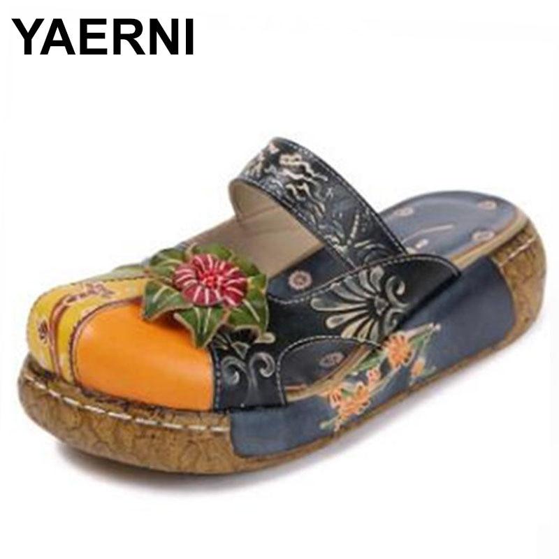 Yaerni 2018 Sommer Neue Komfortable Outdoor Antiskid Mode Strand Schuhe E592 Praktische Freizeit Flache Schuhe Dicken Boden