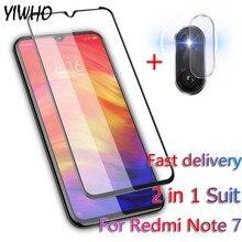 2-in-1 Tempered Glass Redmi Note 7 Camera Screen Protector for Xiaomi Pro Film