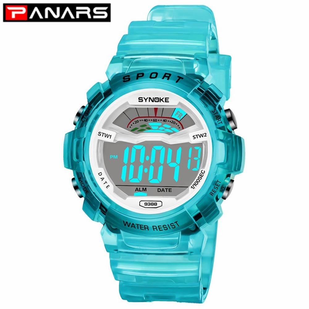 PANARS New Arrival Kids Watch Boys Student Girls Waterproof Sports LED Digital Wristwatch Colorful Fashion Sports Watch For Kids